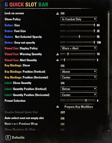 Important ESO Combat Addons: Greymind Quick Slot Bar and Kill Counter